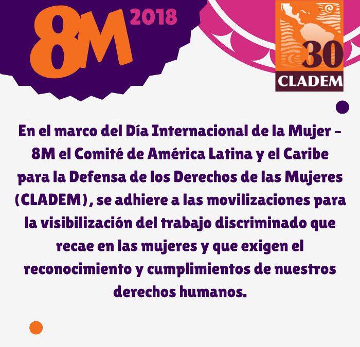 CLADEM emite comunicado en el marco del #8M