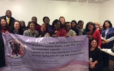 Cuatro redes feministas presentan: Alianza Intercontinental de Redes de Mujeres para el Derecho y el Desarrollo en la CSW58 en New York.