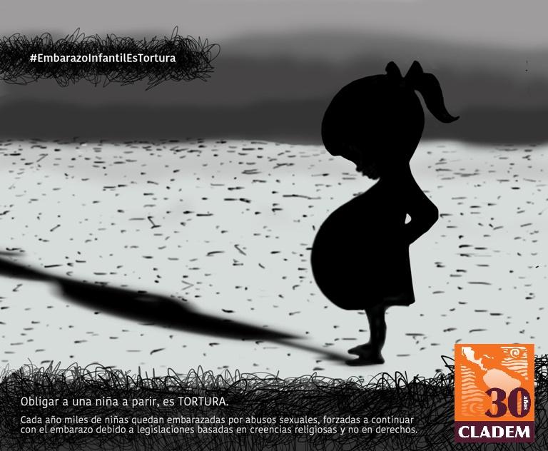 CLADEM lanza campaña #EmbarazoInfantilForzadoEsTortura