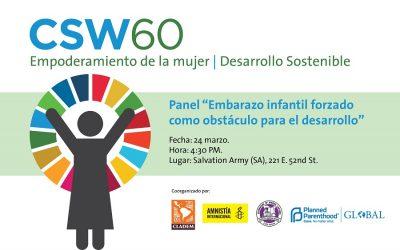 CLADEM y Organizaciones aliadas presentan evento paralelo en la CSW60