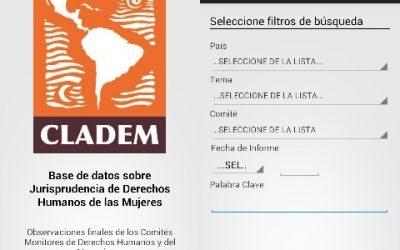 CLADEM presenta Base de datos sobre Jurisprudencia de género de Comités Monitores disponible en aplicativos para móviles