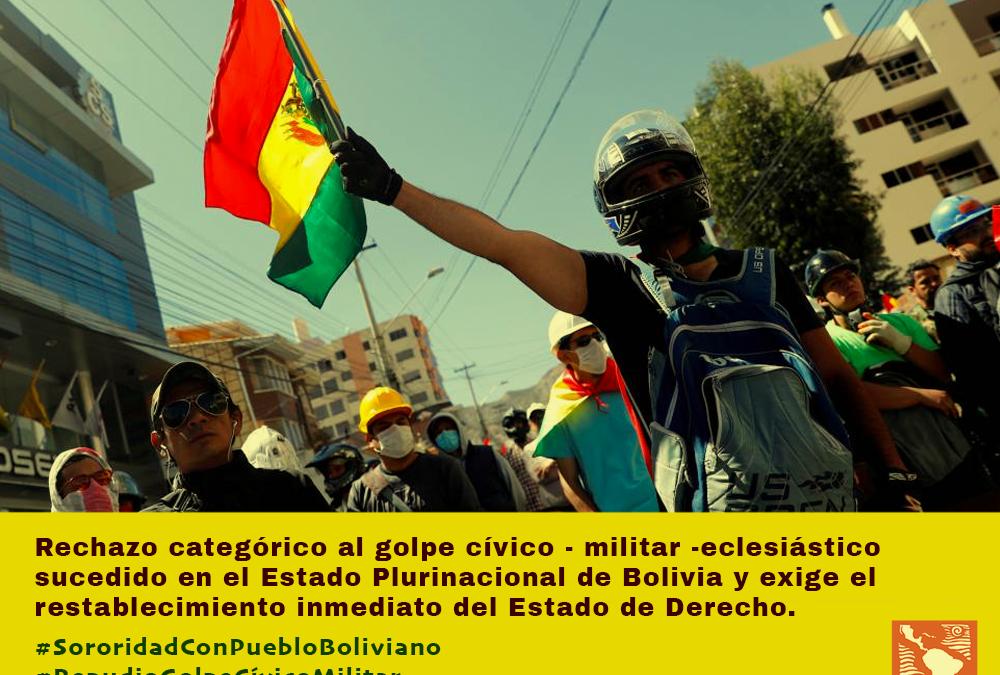 Pronunciamiento contra el golpe cívico-militar-eclesiástico sucedido en el Estado Plurinacional de Bolivia