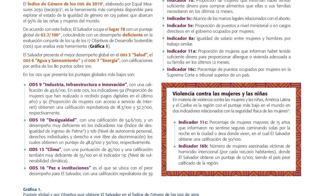 Avance de los derechos de las mujeres y las niñas a 25 años de Beijing, a la luz de los ODS y del Consenso de Montevideo, Reporte: El Salvador