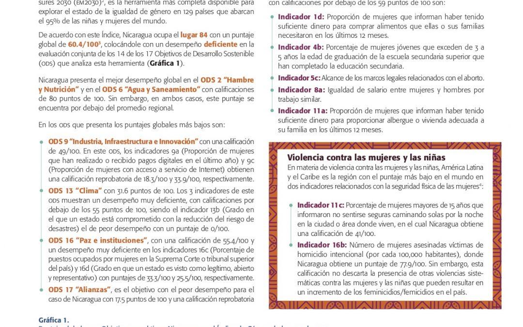 Avance de los derechos de las mujeres y las niñas a 25 años de Beijing, a la luz de los ODS y del Consenso de Montevideo Reporte: Nicaragua