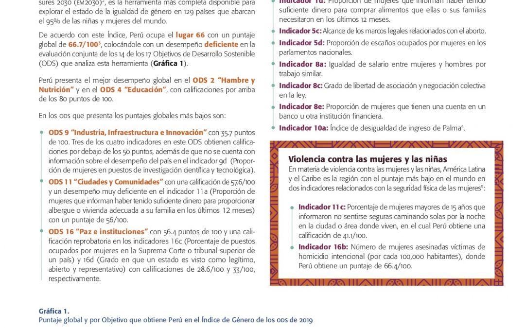 Avance de los derechos de las mujeres y las niñas a 25 años de Beijing, a la luz de los ODS y del Consenso de Montevideo Reporte: Perú